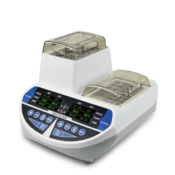 Dual temperature control dry bath incubator